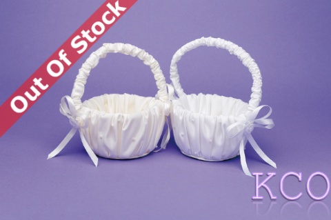 Flower Basket M6060 White~ Special Occasion